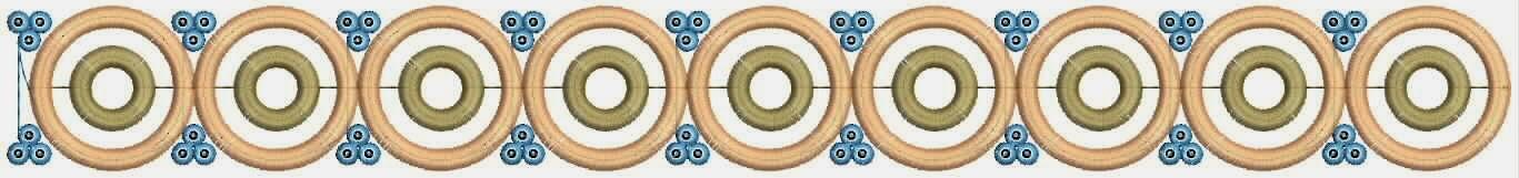 geometriese ronde styl Kant ontwerp