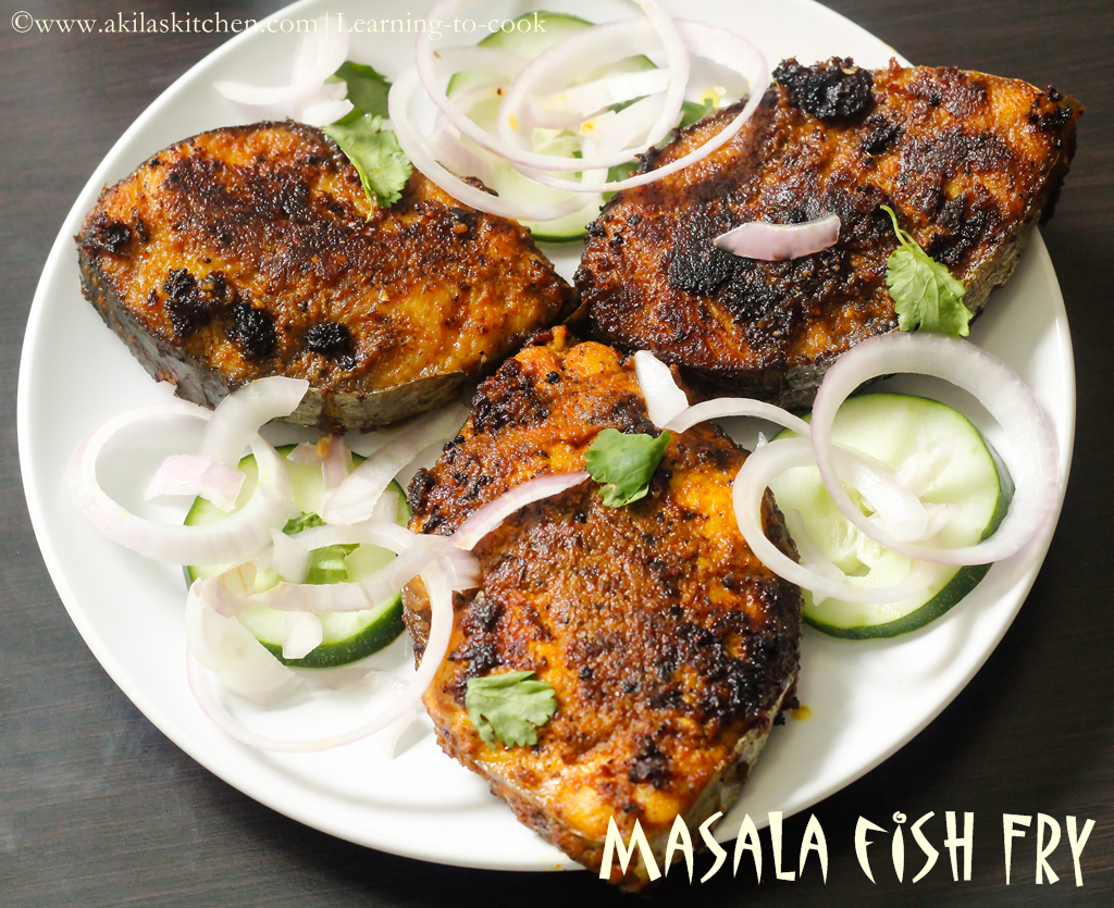 Learning to cook masala fish fry recipe how to make for How to cook fried fish