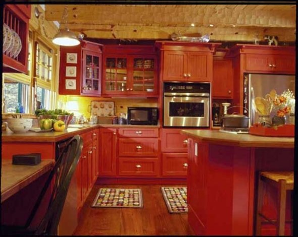 15 Red Kitchen Ideas  Home Designs Plans
