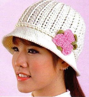 крючком женская шапка