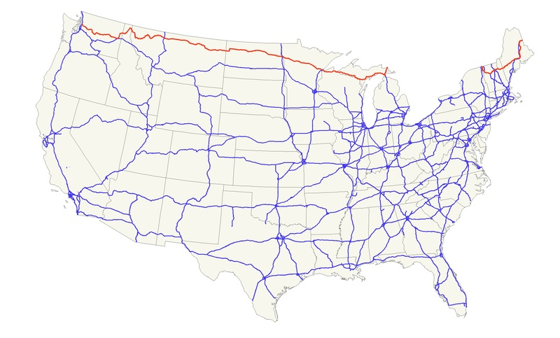 Macgellan Us Highway 2 End To End - Us-highway-2-map