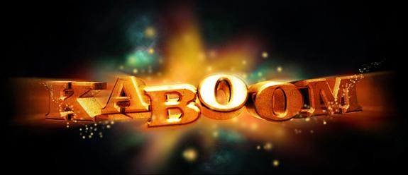 KABoom 3D Text Photoshop 30 Striking 3D Text in Photoshop Tutorials