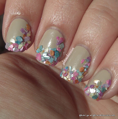 glitterobsession: sea shells nail art