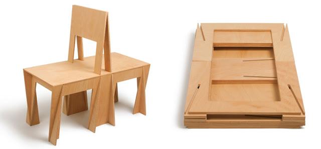 Silla de madera rompecabezas espacios en madera for Sillas plegables diseno
