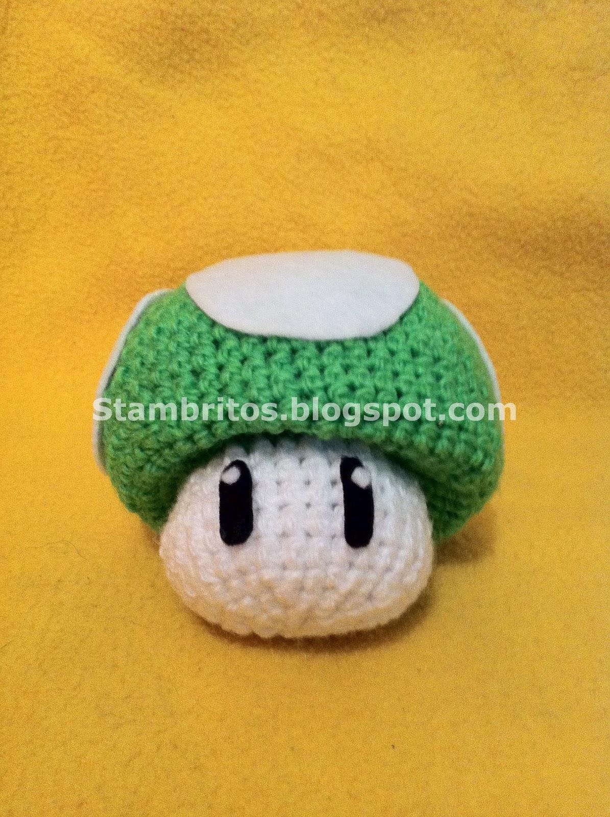 Amigurumi Hongo Mario Bros : Stambritos Inc: Mario Bros Hongo