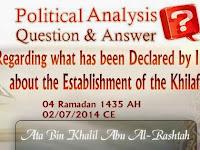 Tanggapan Amir Hizbut Tahrir Terhadap Proklamasi Tegaknya al-Khilafah oleh ISIS