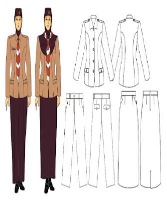 12 pakaian seragam upacra muslim anggota dewasa putri