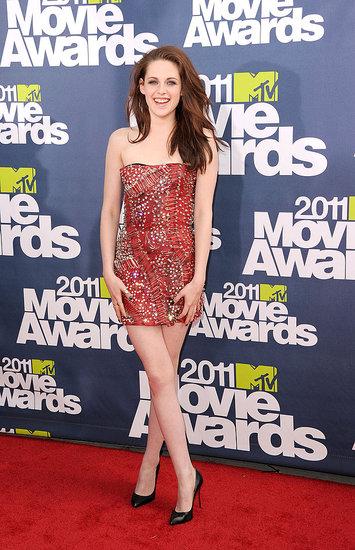 kristen stewart mtv movie awards 2011 red carpet. skipped the red carpet.