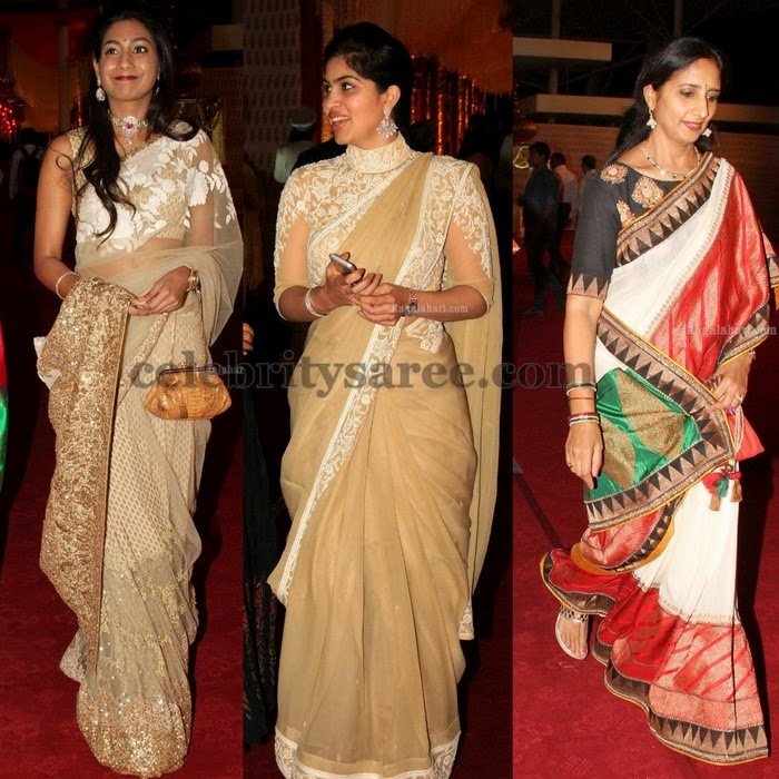 Pretty Sarees with Fancy Blouses