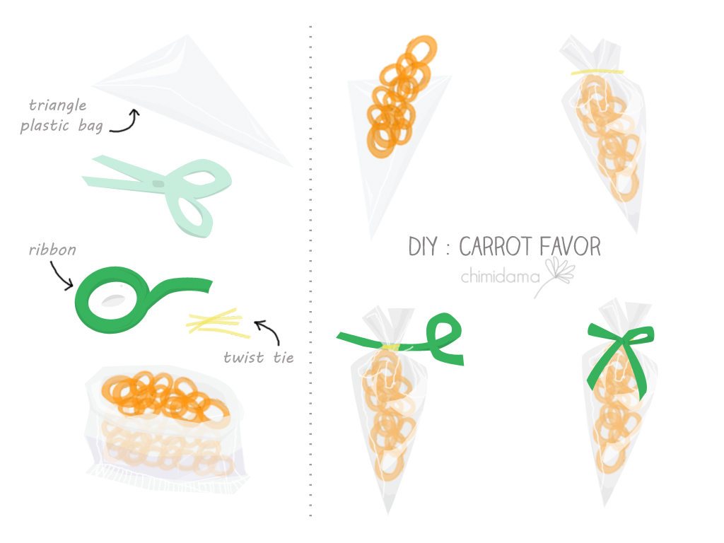 DIY carrot favor
