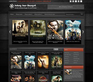Free Movies Black Blogger Template Layout