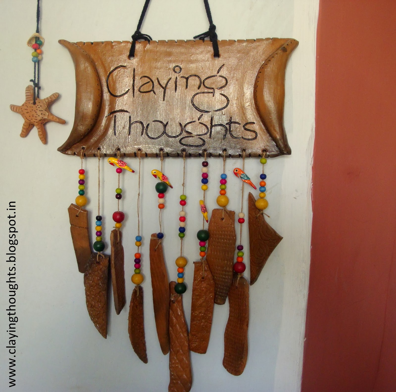 Claying Thoughts Terracotta Clay Name Plates