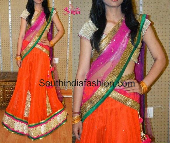 designer half sarees online