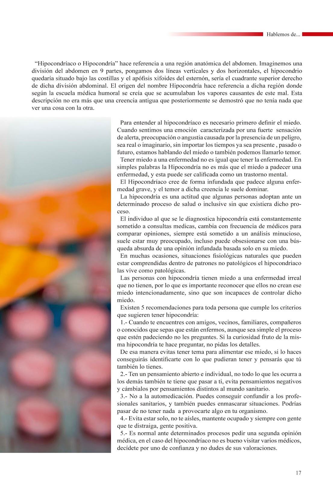 Qué significa ser hipocondríaco? | Revista Ávila en Salud