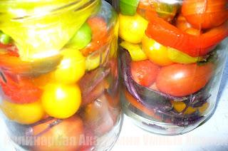 помидоры подготовленные для маринования по итальянски