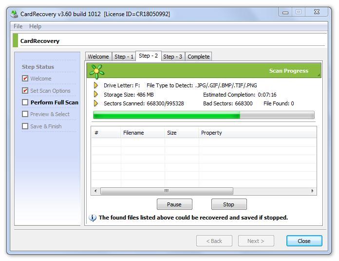 Recuperar archivos dañados de memoria usb