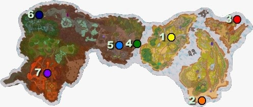Flyff Rainbow Race NPC locations