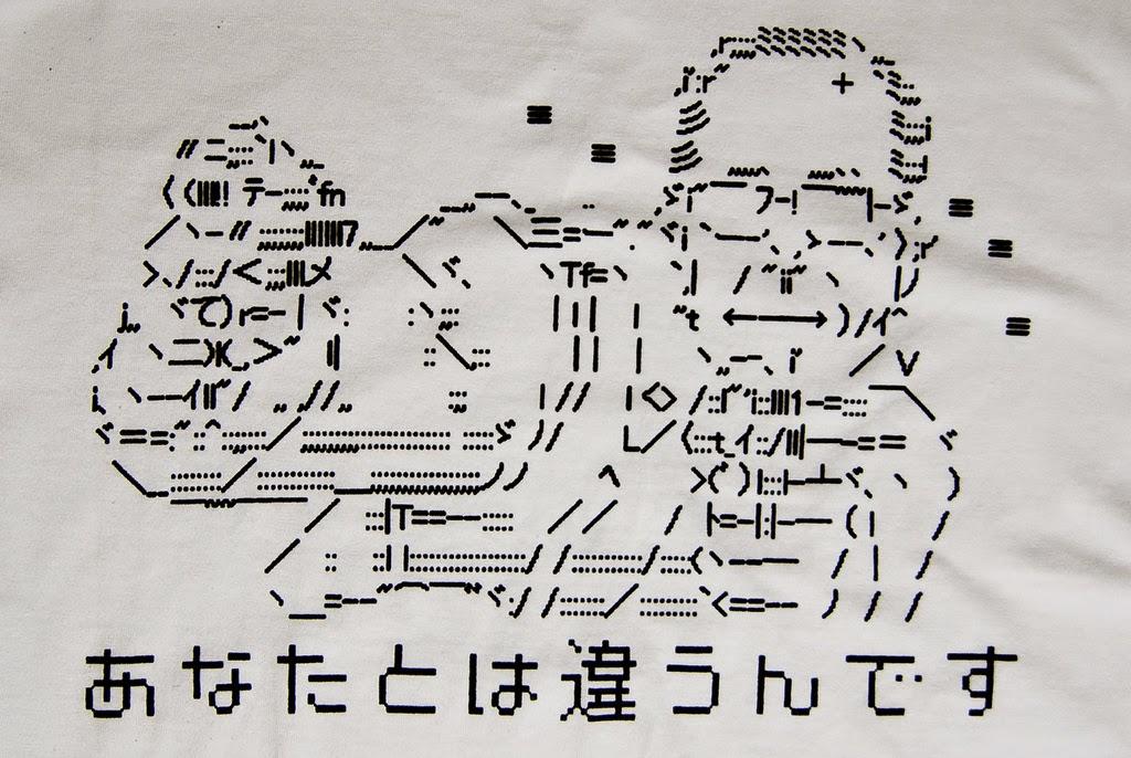 político japonés en ascii
