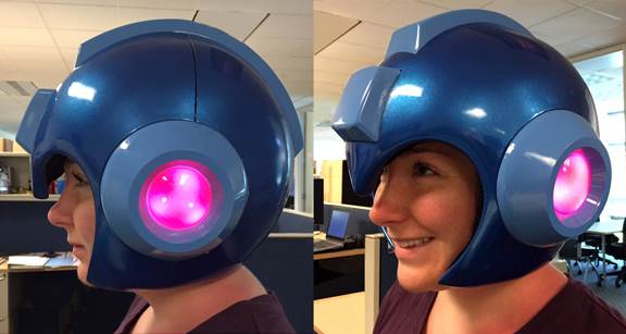 Capcom official Mega Man wearable helmet image