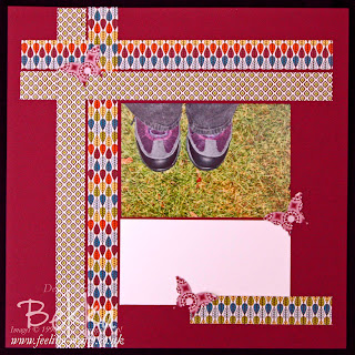 These Boots Scrapbook Page using the International Bizarre Designer Series Papers from Stampin' Up!  Check out Bekka's Blog each Saturday for another Inspiring Scrapbooking Page