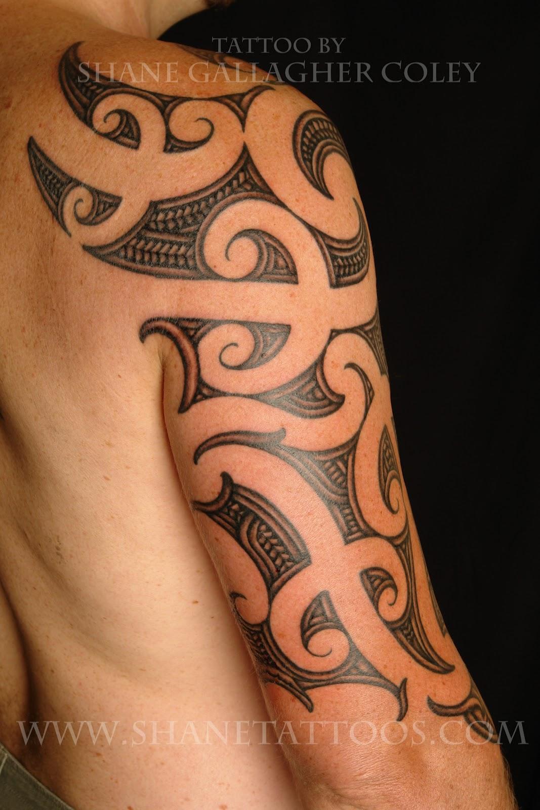 Maori polynesian tattoo maori sleeve tattoo for 1 4 sleeve tattoo