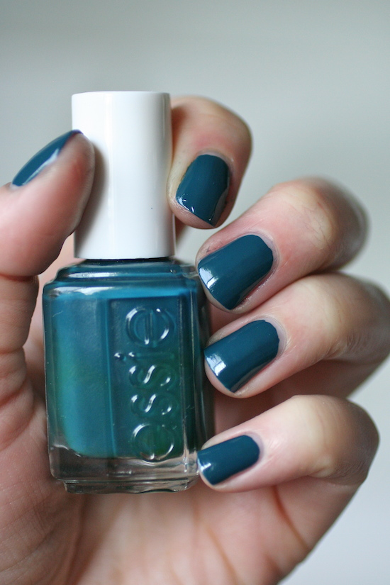Essie Dark Teal Comparison : Go Overboard, The Perfect Cover Up ...