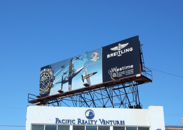 Breitling American Tour watch billboard