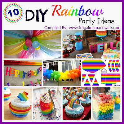 Gallery For gt Diy Rainbow Party Decorations