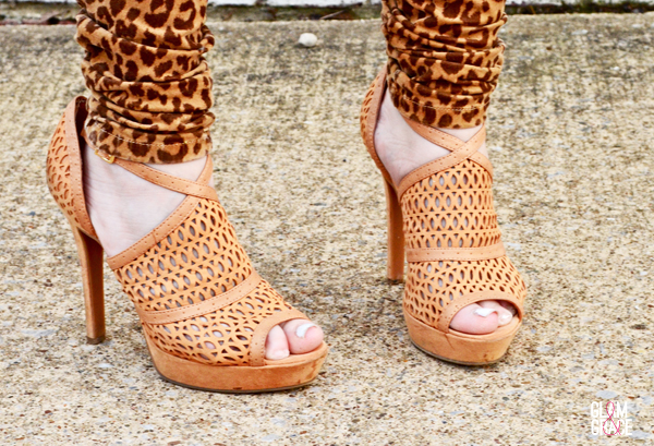 textured cutout leather sandals