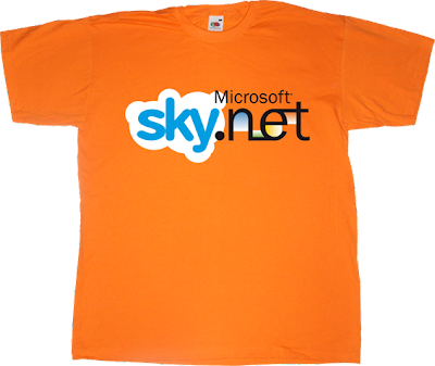 terminator skynet skype  microsoft movie t-shirt ephemeral-t-shirts