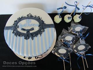 bolo batizado bolachas cakepops bragança