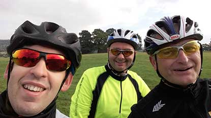 Fran, Wayne and Kev will be cycling 295 miles for Cats Protection