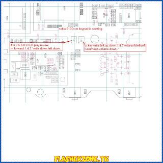 Nokia 5130keypad ways jumper diagram hardware problem solution