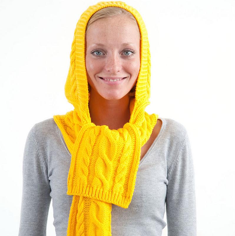 Связать модный шарф и шапку