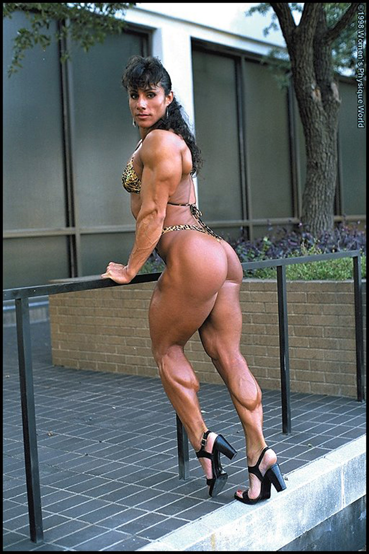 Annie Rivieccio Posing Her Great Butt And Flexing Her Calves