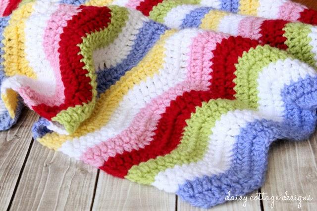 free crochet pattern simple chevron blanket