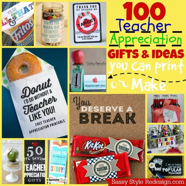 100+ Teacher Appreciation Gifts and Ideas you can print or make for ...