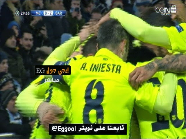 اهداف مباراة مانشستر سيتي و برشلونة 1-2 || دورى ابطال اوربا