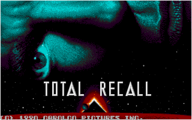 Total Recall amiga game title screen