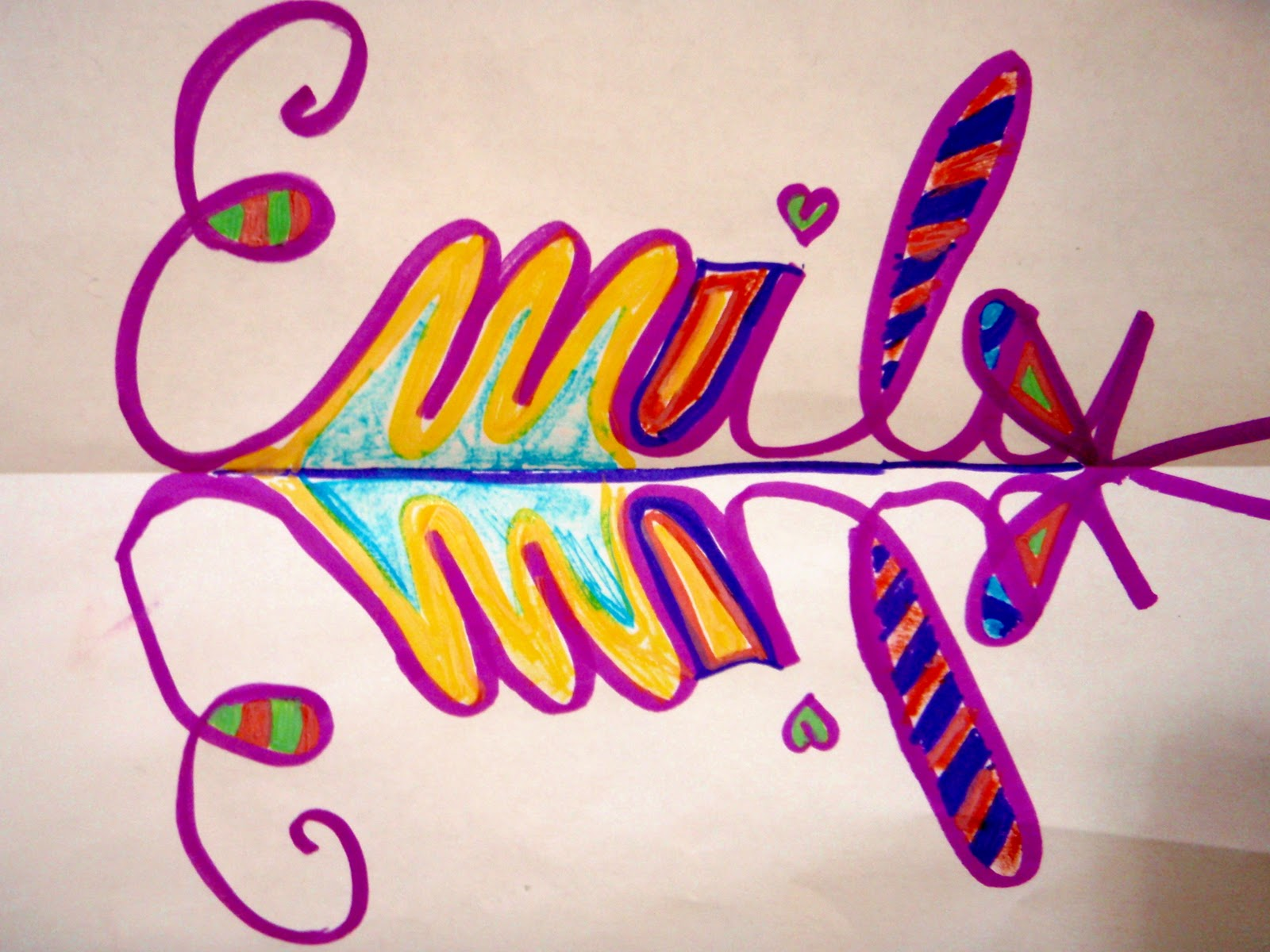 Symetrical Designs fayston elementary art: symmetrical name designs