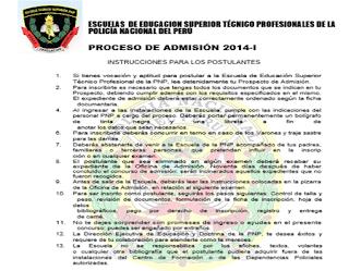 Resultados Psicometrico y de Aptitud Academica ETS PNP 2014 Aprobados, exámen 3 y 4 de Octubre