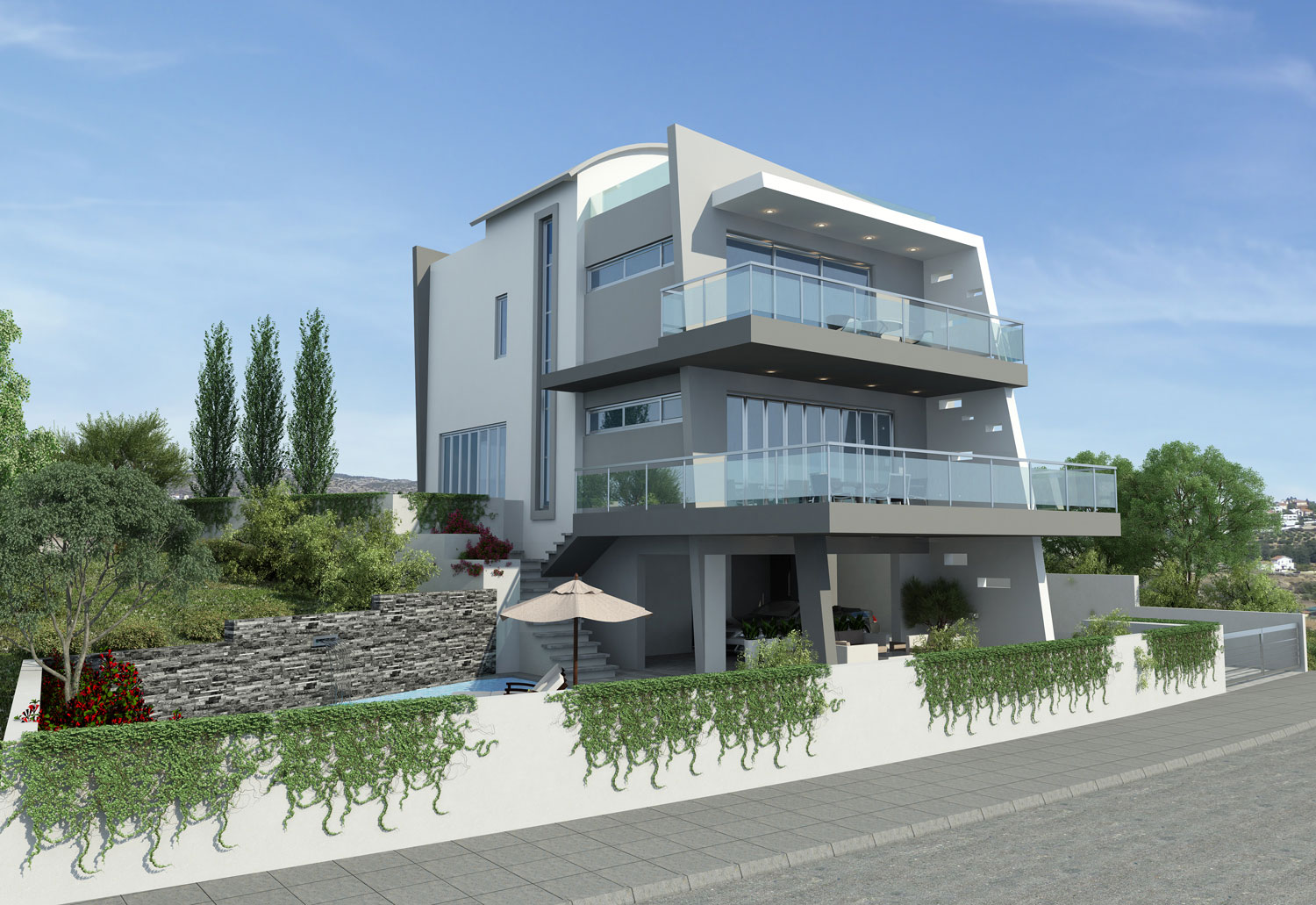Modern Stylish Latest Homes Exterior Designs Cyprus.