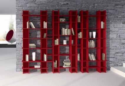 Kirmizi Kitaplik Modelleri 3 Modern Tasarım Kitaplık Modelleri