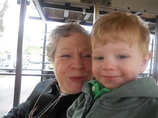 Bubbe and Garrett on the train