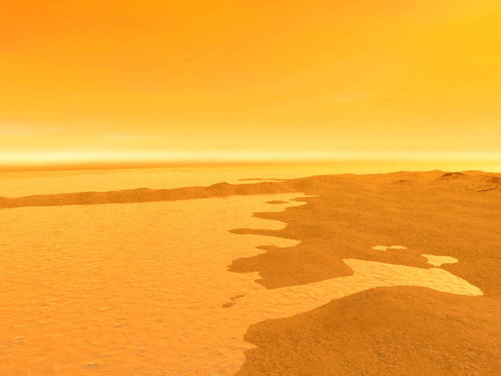 Нефти и газа на Титане в сотни раз больше, чем на Земле (4 фото)