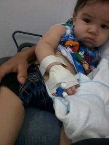 Criança de 10 meses passa por problemas de saúde