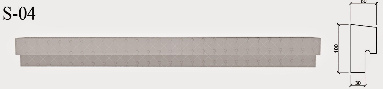 solbanc profile fatada din polistiren pentru montaj sub ferestre - peste termosistem