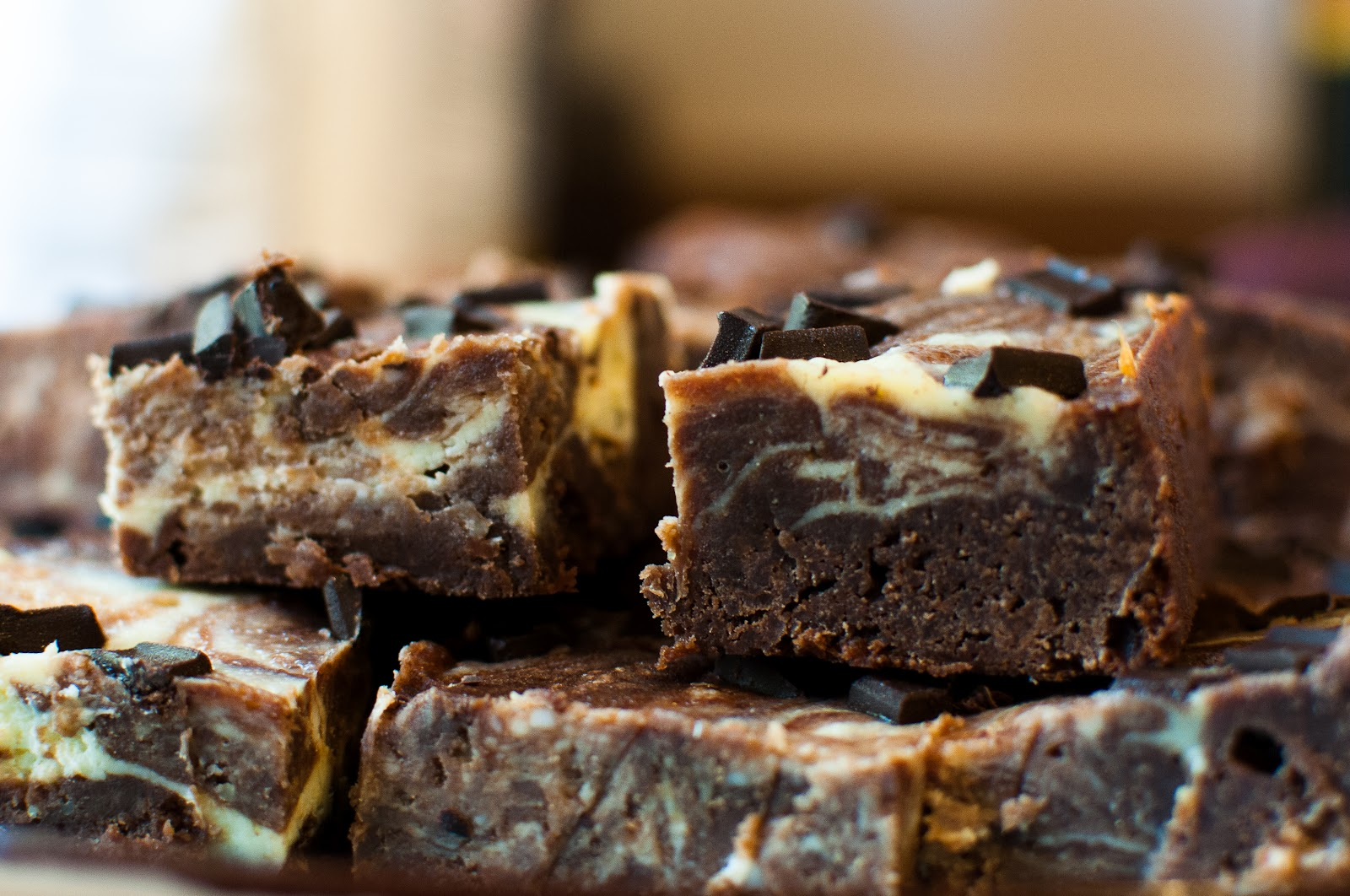 Cheesecake-marbled Brownies Recipe — Dishmaps