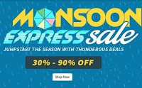 Buy Monsoon biggest sale  at 30% To 90% at Shopclues From Rs 99 :buytoearn