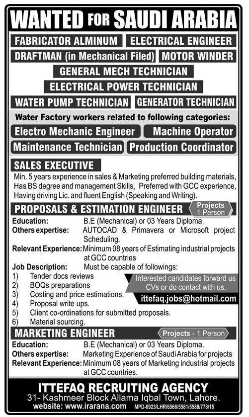 Engineering & Technical Jobs in SAUDI ARABIA
